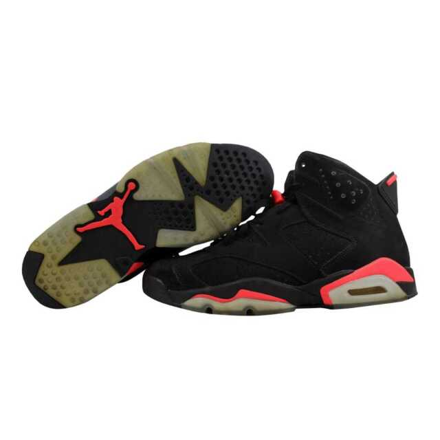 61e3f045d8b ... Nike Air Jordan VI 6 Retro Black Infared 23-Black Infraed 384664-023 ...