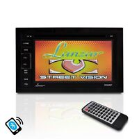Lanzar Sdn65bt 6.5 Double Din Dvd Bluetooth Cd Am/fm Aux Receiver Monitor