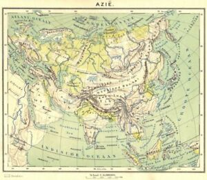 1 Azië 1922 Old Vintage Map Plan Chart Amiable Asia