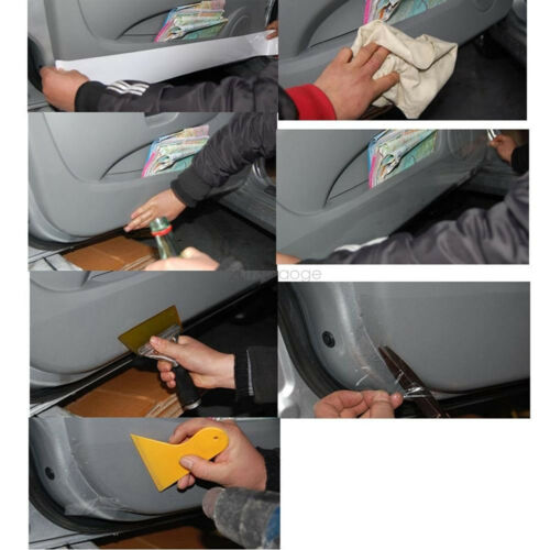 Universal Clear Door Sill or Door Edge Paint Protection Scratch Film Vinyl Sheet
