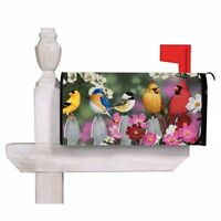 Birds On A Picket Fence Magnetic Mailbox Cover, New, Free Shipping on sale