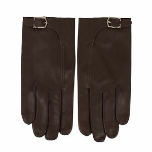 NWT-JOHN-LOBB-Brown-Calfskin-Leather-With-Buckle-Gloves-Size-10-5-495