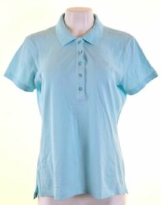GANT-Womens-Polo-Shirt-UK-20-2XL-Blue-Cotton-FN19