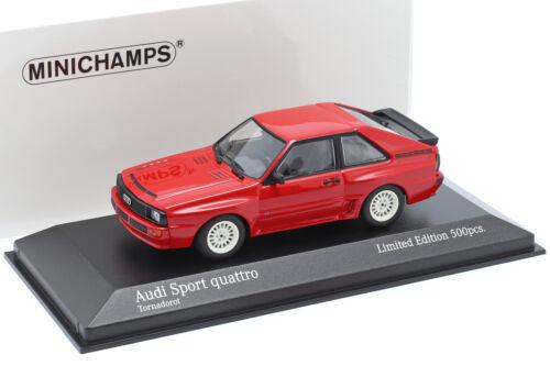 Audi Sport quattro Baujahr 1984 rot 1:43 Minichamps