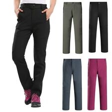 Thick Thermal Women Windproof Winter Snow Ski Pants Trousers Fleece Lined US