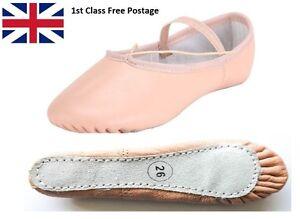 Zapatos De Ballet Danza De Cuero Completo Suela hecho a mano con adjunto Elásticos
