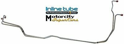 INLINE TUBE 72 chevelle Transmission Trans cooler lines T-400 2pc set w clips