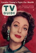 1956 TV Guide January 14 - Loretta Young; Highway Patrol; Dragnet; Columbia MO