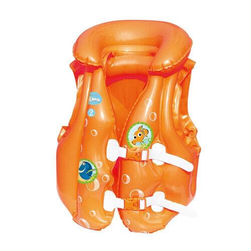 Giubbino Gonfiabile Nemo Per Bambini Giubbotto Salvagente 51x46 cm Bestway
