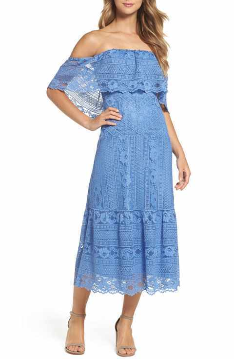BB DAKOTA 'KATIE'  LACE MIDI DRESS sz 10