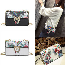 Women's Shoulder Bag Chain Cross Body Satchel Ladies Party Handbags G #White