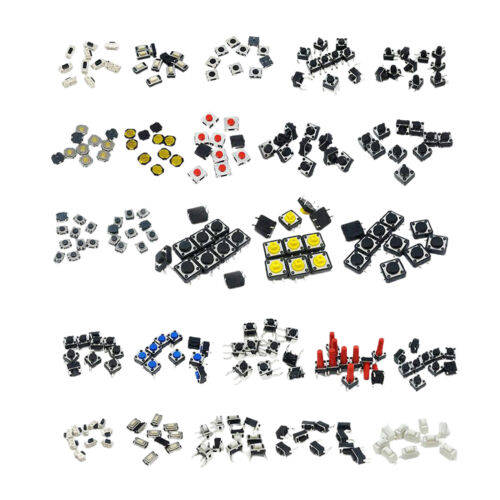 250PCS//125PCS 25 Values Tactile Push Button Switch Micro Momentary Tact Switch