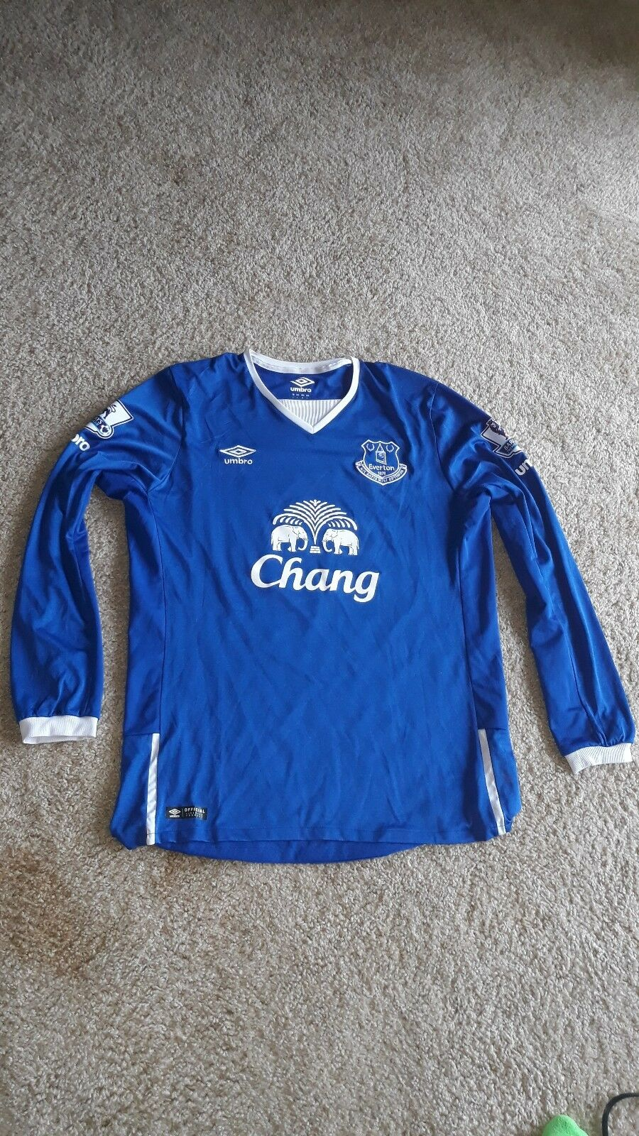Umbro Everdeon Soccer Jersey  Ross Barkley  20  Large  blu Long Sleeve