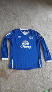 finest selection 792af 36dff Details about Umbro Everton Soccer Jersey - Ross Barkley #20 - Large - Blue  Long Sleeve
