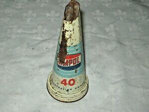 A-Rare-Vintage-Ampol-Light-Blue-40-Grade-Tinplate-Oil-Bottle-Pourer-Spout