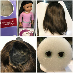 American-girl-doll-TM-42-wig-and-eyes-brand-new-replacement-customizing