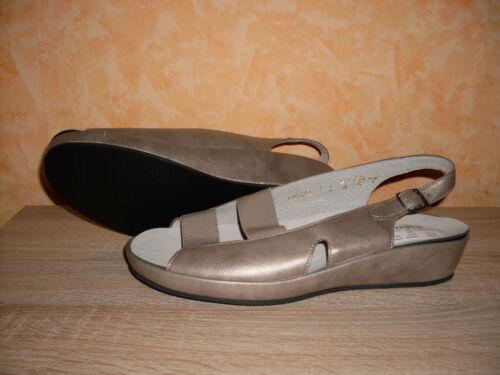 nuovo H e da Sandalo oro in 42 pelle bronzo gr Sandalo perlato 8 donna di w1aqFfg