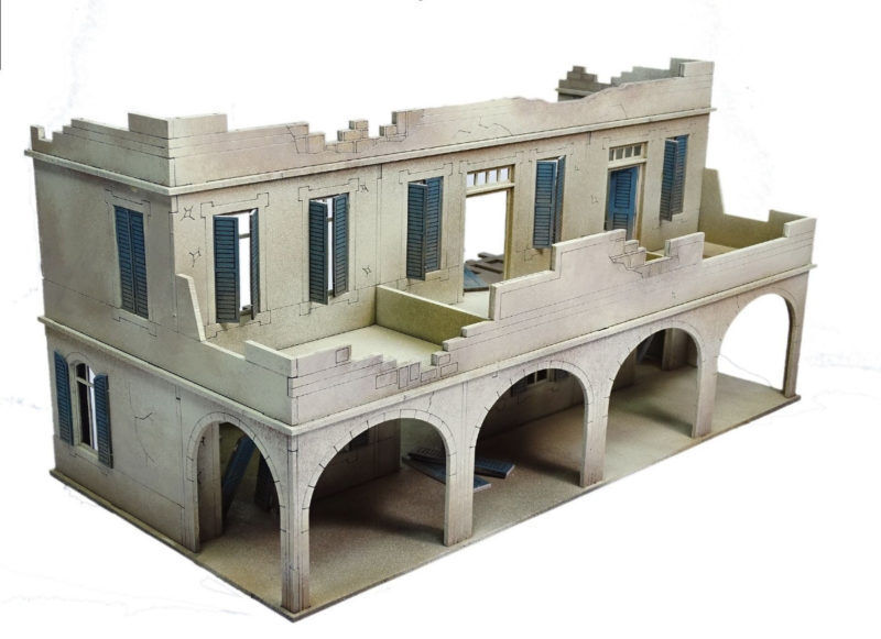 North African Colonial Souk Building – Two Storey Damaged 28mm Laser cut MDF ...