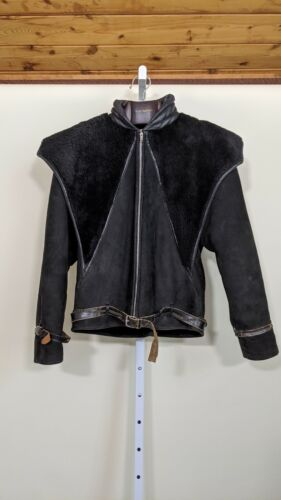 Gianni Versace Archive Vintage 80s Shearling Leath