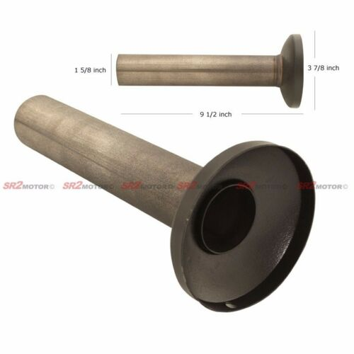 """UNIVERSAL 4/"""" STAINLESS BLACK COATED EXHAUST MUFFLER SILENCER REMOVABLE"""