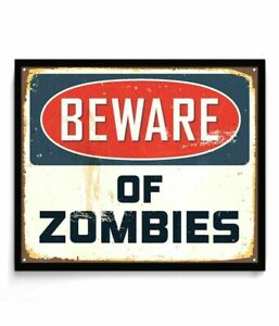 Beware-of-Zombies-Metal-Tin-Sign-Retro-Vintage-Tin-Sign-TSC164