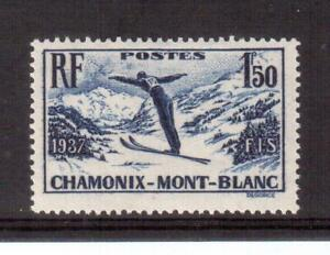 FRANCE-1937-MINT-322-INTERNATIONAL-SKI-MET-R
