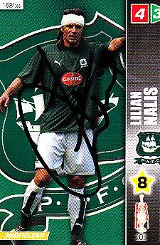 Plymouth Argyle F.c Lilian Nalis mano firmado Campeonato 2008 Panini tarjeta.