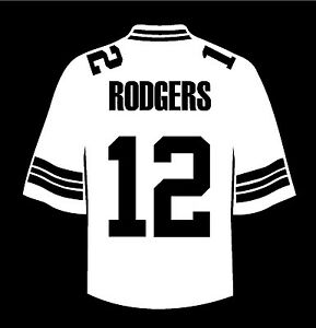 on sale 6383a f82a8 Details about Aaron Rodgers Jersey Green Bay Packers truck window vinyl  decal sticker nfl