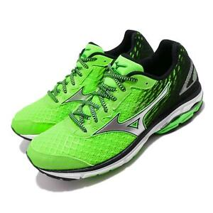 Mizuno-Wave-Rider-19-Green-Silver-White-Men-Running-Shoes-Sneakers-J1GC1603-08
