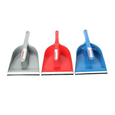 Bee Home Dustpan and Brush Set Home Cleaning Supplies Rubber Scoop Light Weight
