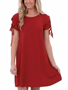 Red-Scoop-Neck-Valentine-Stretch-Tunic-Strappy-Short-Sleeve-Casual-Dress-22990-M