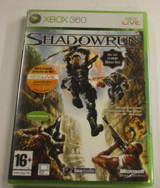jeu xbox 360 shadowrun      vf    neuf    blister