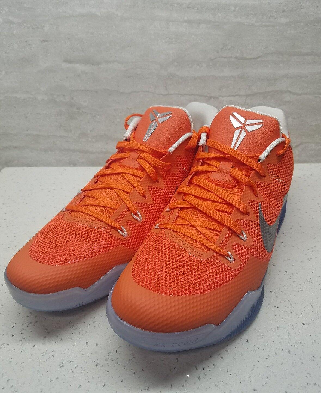 Nike Kobe XI Promo TB Basketball Shoes Orange White Sz Glacier Sz White 15 856485-883 a3e48f