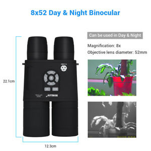 8x52-Optical-Infrared-Night-Vision-Binocular-Spotting-Scope-Monocular-720P-USA