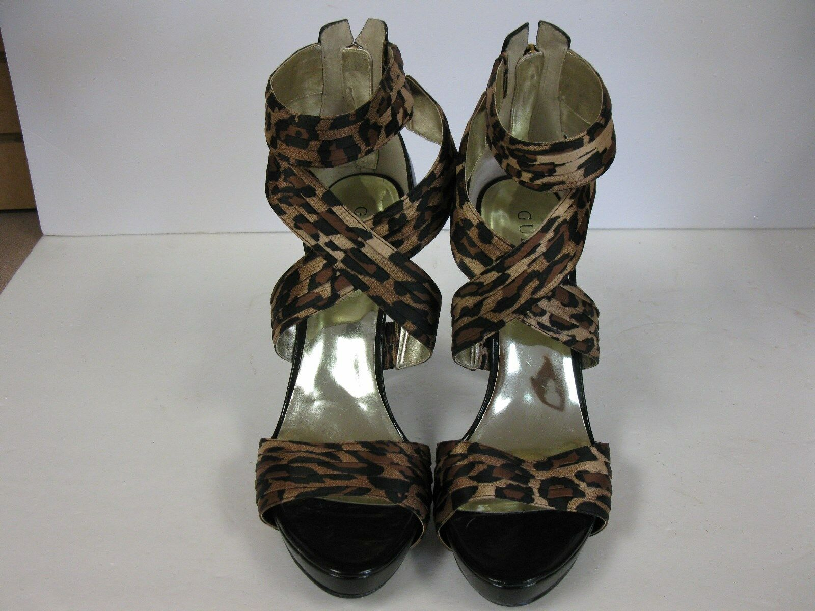 Guess Women's Sabin Brown Multi Satin shoes Size 10M