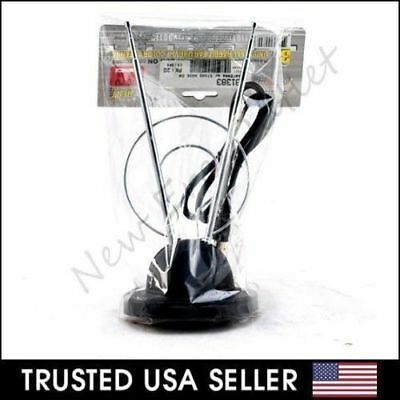 1X Universal Antenna Indoor Rabbit Ear for Color TV UHF VHF HDTV with 3ft Cable
