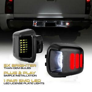 2x-LED-feux-eclairage-de-plaque-immatriculation-pour-Navara-D40-2005-2016