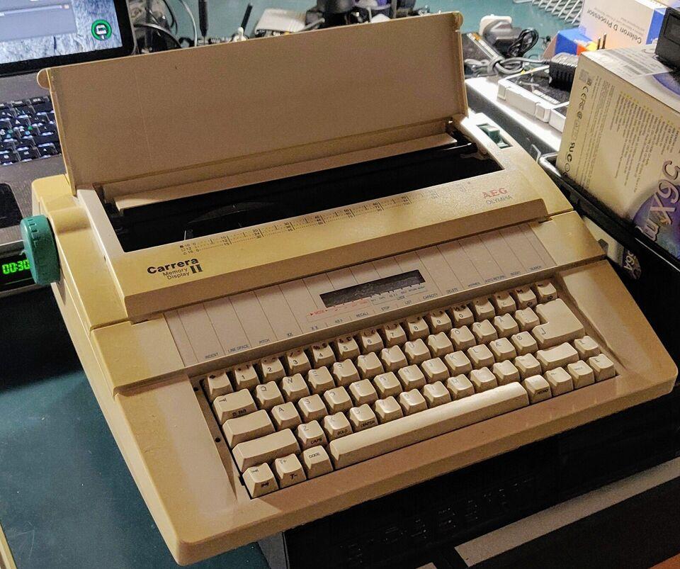 AEG Olympia skrivemaskine