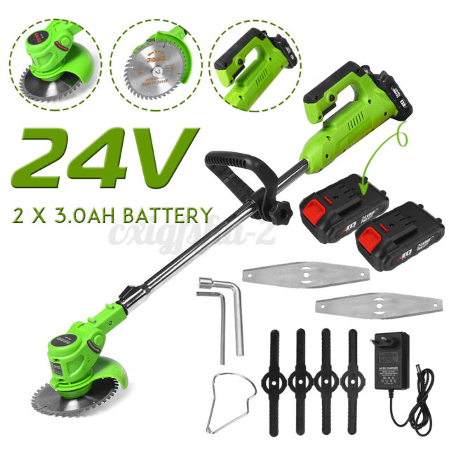 Electric Cordless Grass String Trimmer 24VGarden Weed Lawn Strimmer Cutter