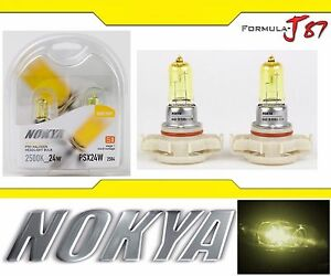 Nokya-2500K-Yellow-PSX24W-2504-Nok7691-24W-Two-Bulbs-Fog-Light-Replacement-Lamp