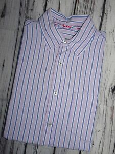 Boden London Mens Shirt Lilac Stripe Long Sleeve Button Cuff Size Medium Shirts & Hemden Kleidung & Accessoires