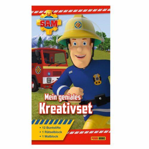 /& Rätselblock Mein geniales KreativsetFeuerwehrmann SamMal Buntstiften