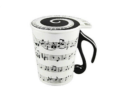 Musical Notes Holds Piano Song Coffee Milk Ceramic Mug Cup Best Gift free ship