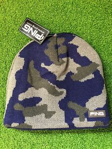 Image is loading Bnwt-Ping-Camo-Winter-Knitted-Golf-Hat-Blues b82839de076