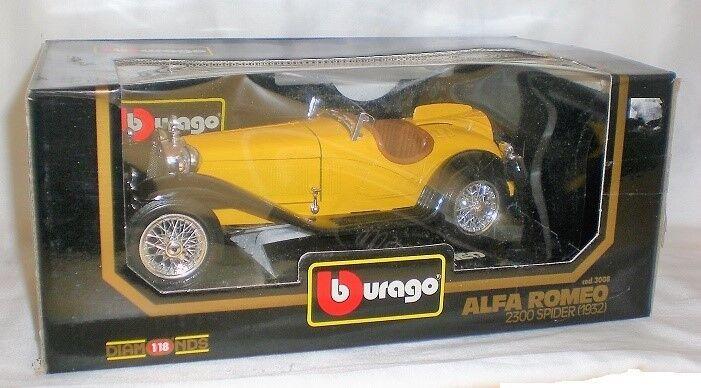 ventas en línea de venta Bburago Alfa Romeo 2300 Araña 1932 Diecast Coche Coche Coche 1 18 Nuevo Caja Dañada  tienda en linea