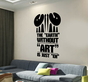 Large Vinyl Wall Sticker Word Cloud The Earth Without ART Home Decor ... 73d955ed184e