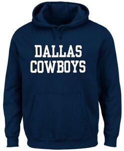 Dallas-Cowboys-NFL-Mens-Wordmark-Hoodie-Navy-Blue-Adult-Sizes