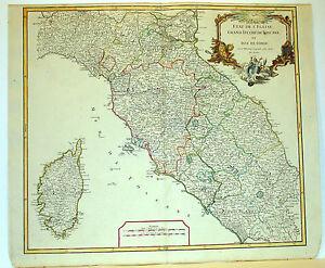 Carta geografica antica old map toscana stato chiesa roma corsica vaugondy 1750 ebay - L antica toscana cucine da incubo ...