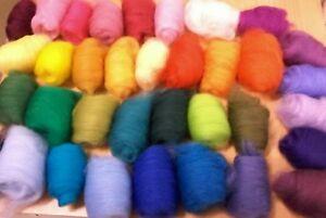 Mohair /& Wool Merino 100gm  White West Aust.Tops Roving Dye Spin Felt Knit
