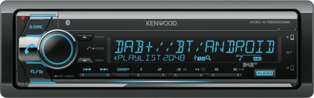 Kenwood Autoradio KDC-X7200DAB incl. DAB- Antenne mit DAB+, Bluetooth, USB, CD